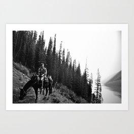 Man on a Horse Art Print