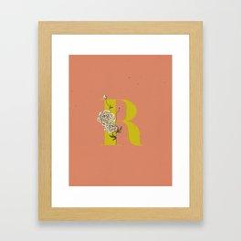 R for Ranunculus Framed Art Print