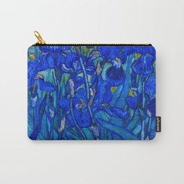 Van Gogh Irises in Indigo Carry-All Pouch