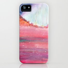 Magical Red Sea Watercolor Art iPhone Case
