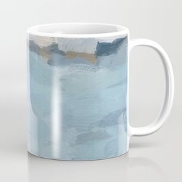 Navy & Baby Blue Abstract Nature Art Painting Coffee Mug