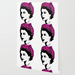 The Queen and the pink pussy hat Wallpaper