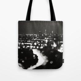 Los Angeles cityscape. L.A. Noir Tote Bag