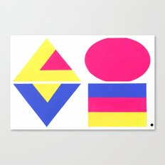 CMYK LOVE Canvas Print