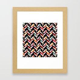 herringbone penguin Framed Art Print