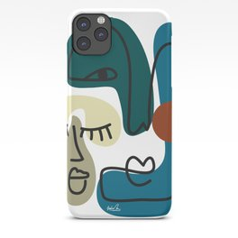 Abstract Faces Art Print  iPhone Case