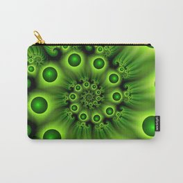 Green Fractal, Modern Spiral With Depth Carry-All Pouch