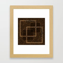 Abstract grunge background. Framed Art Print