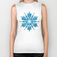 snowflake Biker Tanks featuring Snowflake by Salih Gonenli