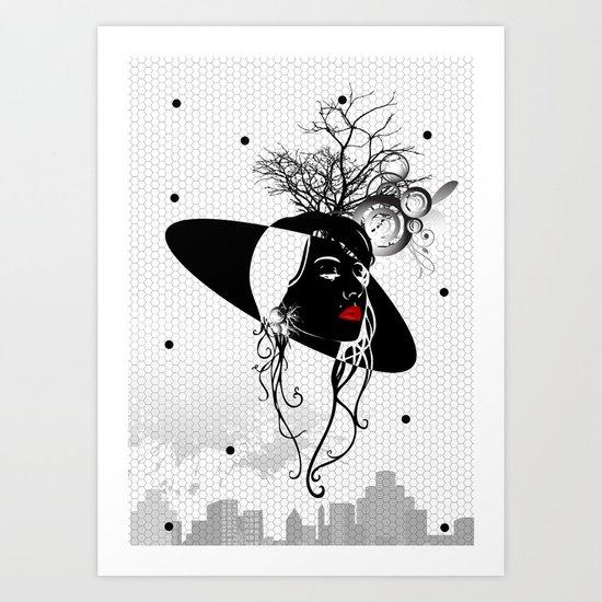 mysterious woman Art Print