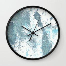 Aqua Sprawl Wall Clock