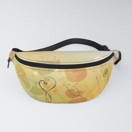 Floral Abstract Line Art Print Design Fanny Pack