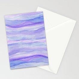 Ultra Violet Watercolor Layers Stationery Cards