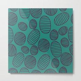 vintage pattern with geometric shapes Metal Print