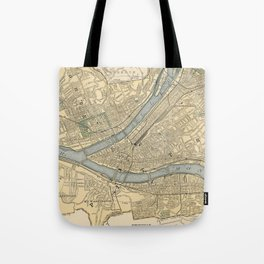Vintage Map of Pittsburgh PA (1891) Tote Bag