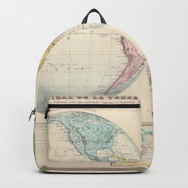 Vintage Map of The World (1862) 2 Backpack