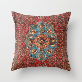 Bidjar Antique Kurdish Northwest Persian Rug Print Throw Pillow