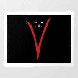 V for Vendett (e6) Art Print