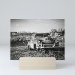 West Texas Junk Yard Mini Art Print