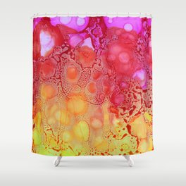 Pink Rain Shower Curtain