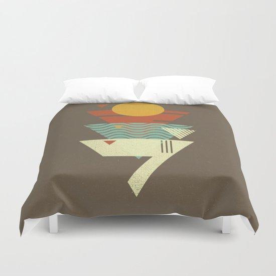Sun. Sea. Sand. Shark. Duvet Cover