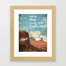 Thelma and Louise travel movie art Framed Art Print