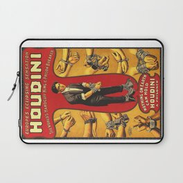 Houdini, vintage theater poster, color Laptop Sleeve