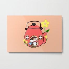 White Mouse's Teapot House Metal Print