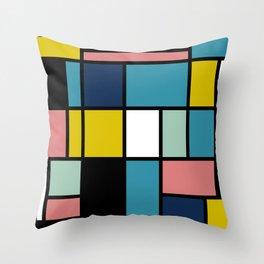 Mondrian De Stijl Modernist Inspired Abstract Art #3 Throw Pillow