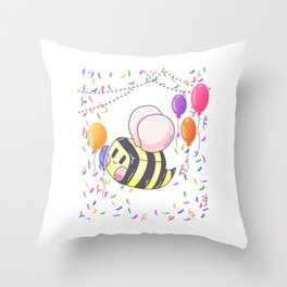 Bee Party work Gift Throw Pillow