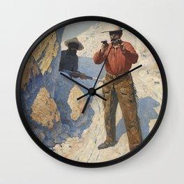 "William Leigh Western Art ""The Holdup"" Wall Clock"
