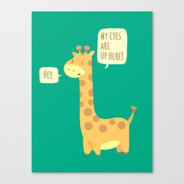 Giraffe problems! Canvas Print