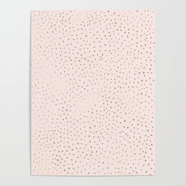 Dotted Gold & Pink Poster