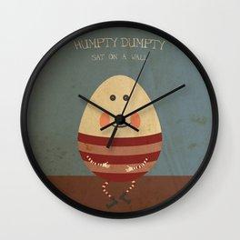 Humpty Dumpty. Children's Nursery Rhyme Inspired Artwork. Wall Clock