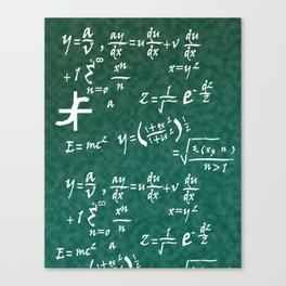 Math Equations Canvas Print