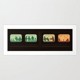 Ground Zero - Zombie Subway Art Print