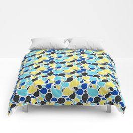 Blue and yellow paisley Comforters