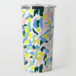 Postmodern Painting in Nile Pastel Travel Mug