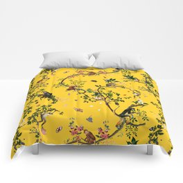 Monkey World Yellow Comforters