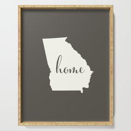 Georgia is Home - White on Charcoal Serving Tray