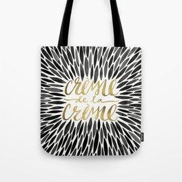 Crème de la Crème – Black & Gold Tote Bag