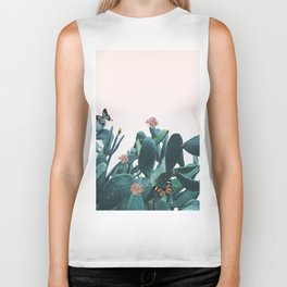 Cactus & Flowers - Follow your butterflies Biker Tank