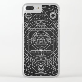 Sacred Geometry Clear iPhone Case