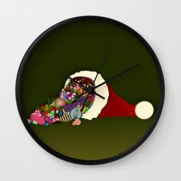 Santa's Cornucopia  Wall Clock