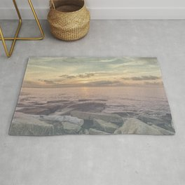 Flat rocks sunset Rug