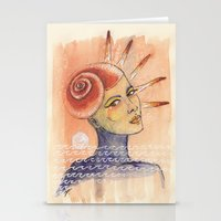 seashell Stationery Cards featuring Seashell by Marti Ferrer