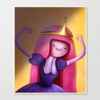 princess bubblegum Canvas Prints featuring Princess Bubblegum by Niniel