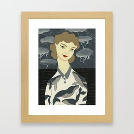The Calm Below Framed Art Print