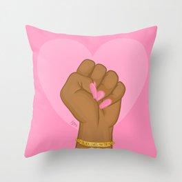 Black Lives Matter Power Fist Throw Pillow