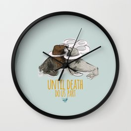 until death do us part (PLASTICOCEANS) Wall Clock